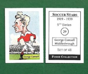 Middlesbrough George Camsell England 29 (FC)